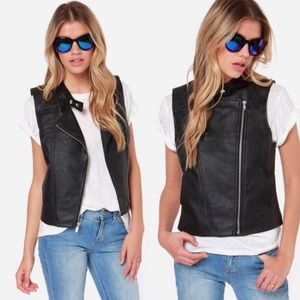 {Jack by BB Dakota} 🆕 Faux Leather Moto Vest